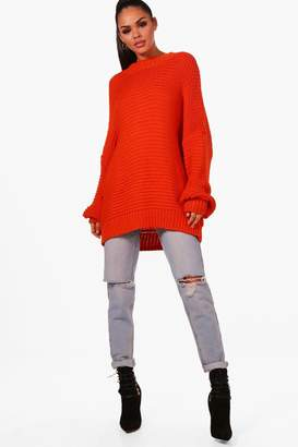 boohoo Charlie Oversized Balloon Sleeve Knitted Jumper