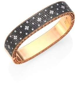 Roberto Coin Princess Diamond& 18K Rose Gold Bangle