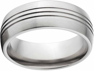 Generic Brushed 8mm Titanium Wedding Band with Comfort Fit Design