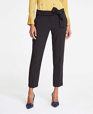 Ann Taylor The Petite Ankle Pant With Tie Waist