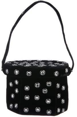 Renaud Pellegrino Velvet Bucket Bag