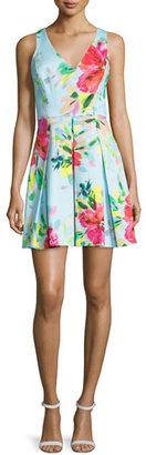 Trina Turk Floral-Print Fit-&-Flare Dress, Multi Colors $236 thestylecure.com
