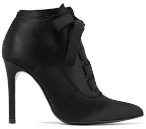 Pedro Garcia Ana Bow-detailed Satin Ankle Boots