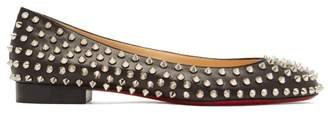Christian Louboutin Babaspikes Silver Spike Leather Pumps - Womens - Black Silver