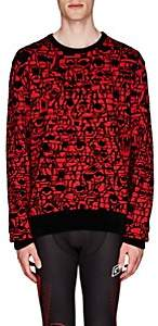 Givenchy Men's Monster-Intarsia Chenille Sweater - Red