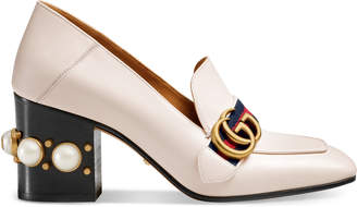 Leather mid-heel loafer $1,100 thestylecure.com