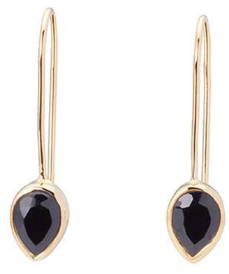 Fallon this Pear Drops Black Onyx 18k gold plated