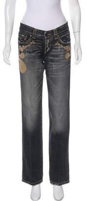 Ermanno Scervino Low-Rise Embellished Jeans