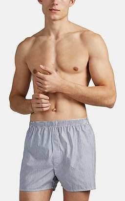 Sunspel Men's Striped Cotton Boxer Shorts - Stripe