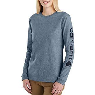 Carhartt Women's Wk231 Workwear Logo Long Sleeve T Shirt