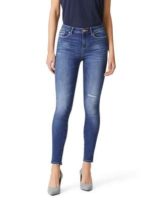 Jeanswest Loulou Mid Waisted Skinny 7/8 Jean-Bleach Wash-6
