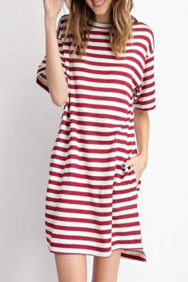 Easel Relaxed Striped Dress