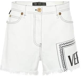 Versace Vintage Logo denim shorts