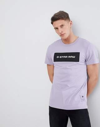 G Star G-Star BeRaw Box Logo T-Shirt Purple