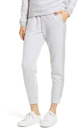 Lou & Grey Sparkle Side Stripe Cotton Sweatpants