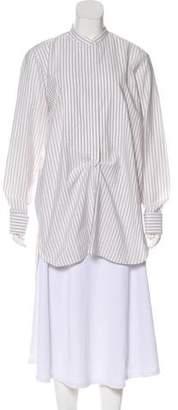 Dries Van Noten Striped Button-Up Top