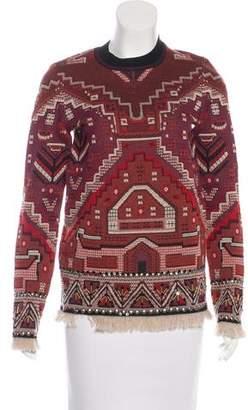 Tory Burch Embellished Jacquard Sweater