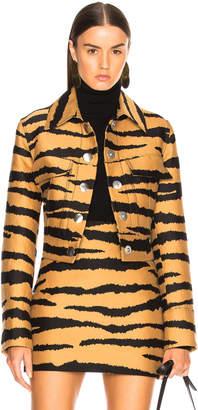 Proenza Schouler Tiger Print Jacquard Jacket