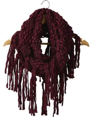 "Tickled Pink Top Knot Fringe Infinity Scarf, 25"" x 16"" Loop, 100% Acrylic, Multiple Colors"