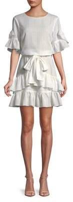 H Halston Tiered Ruffle Dress