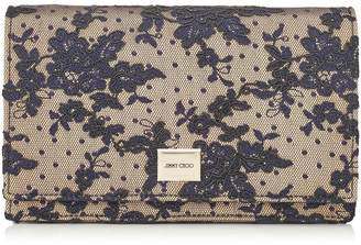 Jimmy Choo LIZZIE Navy Floral Lace Mini Bag