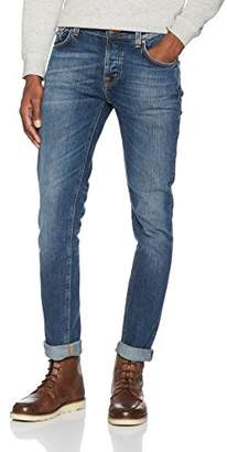 Nudie Jeans Men's Grim Tim (Shaded Blue), W38/L34 (Size: L34W38)