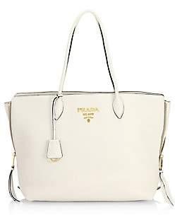 Prada Women's Daino Side Zip Leather Shopper