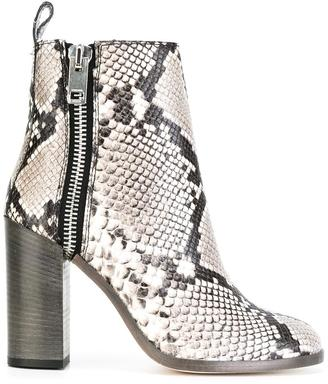 Diesel snakeskin effect boots $354.61 thestylecure.com