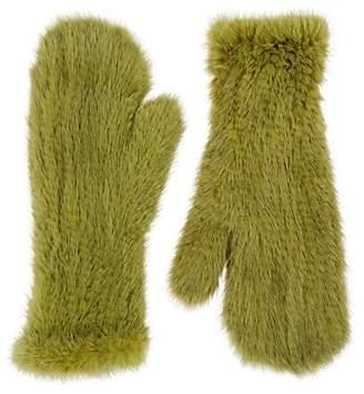 3db8c2feb Barneys New York Women's Knitted Mink Fur Mittens - Green