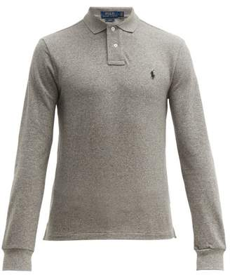 Polo Ralph Lauren Slim Fit Long Sleeve Cotton Pique Polo Shirt - Mens - Grey