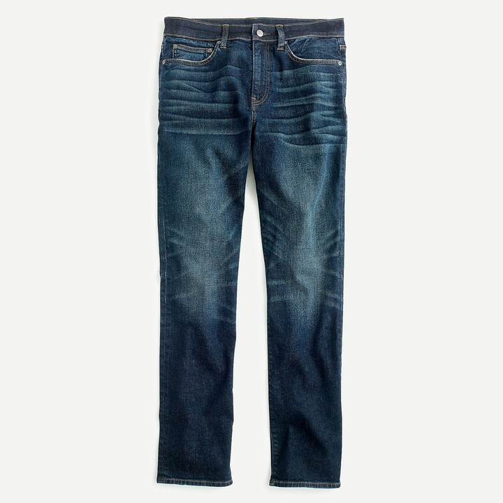 770 Straight-fit jeans in stretch dark worn Japanese denim
