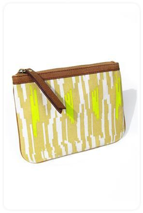 Twelfth St. By Cynthia Vincent by Cynthia Vincent Zipper Pouch in Nude Ikat Print