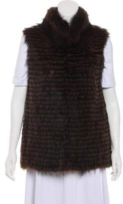 Pologeorgis Knit Fur Vest