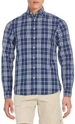Gant Fitted Plaid Cotton Sportshirt