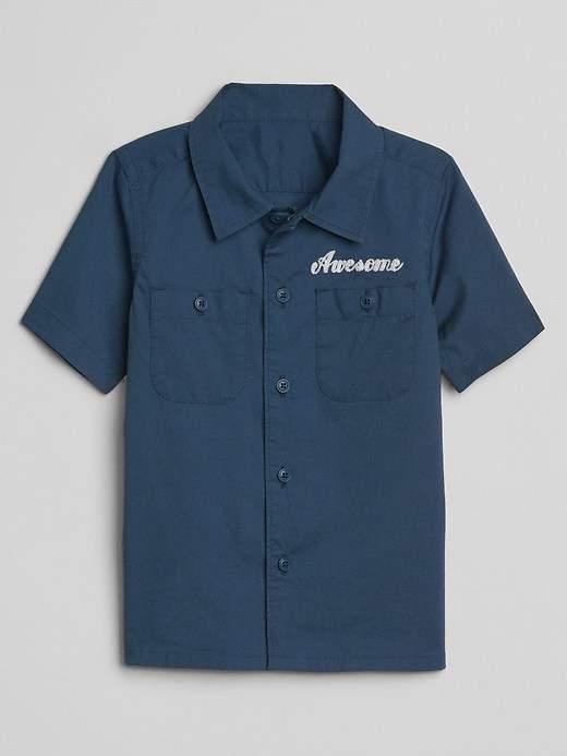 Embroidery Short Sleeve Shirt
