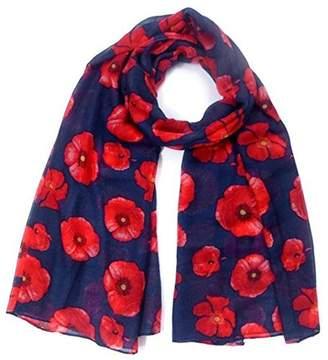 Jian Ya Na Jianyana Fashion Ladies Viscose Poppy Flower Print Fashion Scarf