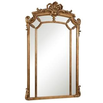 Astoria Grand Arch/Crowned Top Wood Wall Mirror