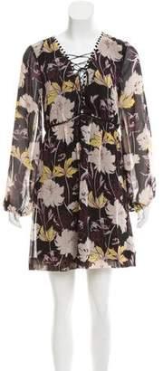 Ella Moss Floral Print Mini Dress w/ Tags