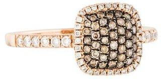 Le Vian 14K Square Pavé Diamond Ring $575 thestylecure.com