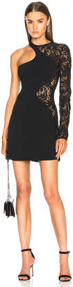 David Koma Lace Sleeve Mini Dress