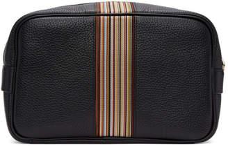 Paul Smith Black Multistripe Wash Bag