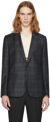 Paul Smith SSENSE Exclusive Green Check Soho Buggy Blazer