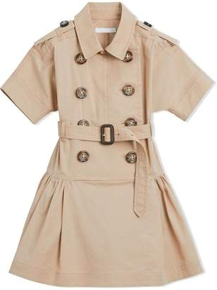 Burberry TEEN flared trench dress