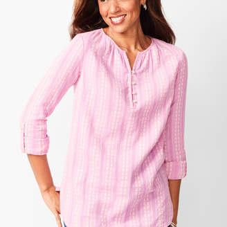 Talbots Embroidered Popover