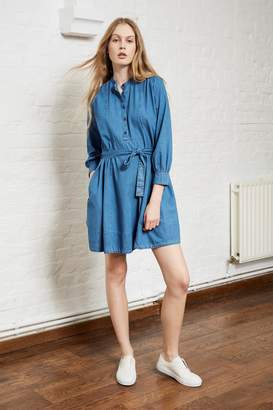 French Connection Tidore Chambray Flared Dress