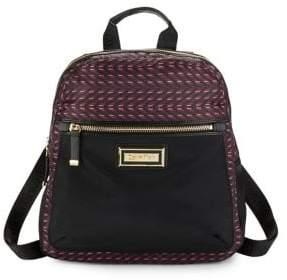 Calvin Klein Belfast Checkered Nylon Zip-Up Backpack