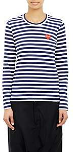 Comme des Garcons Women's Striped Long-Sleeve T-Shirt - Navy, White