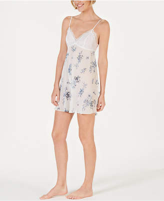 012cca26ef43 INC International Concepts I.N.C. Flower-Print Lace Bodice Chiffon Chemise  Nightgown, Created for Macy's