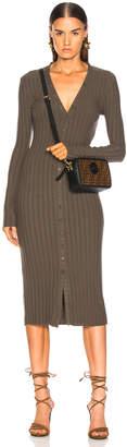 Enza Costa Rib Long Sleeve V Cardigan Midi Dress