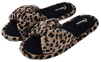 Aerusi Women's Cozy Slide Leopard Design Slipper